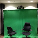 The Green Screen on Banner Stand