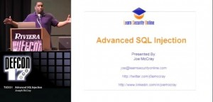 Advanced SQL injection