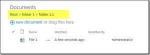 Sharepoint 2013 Breadcrumbs in document library