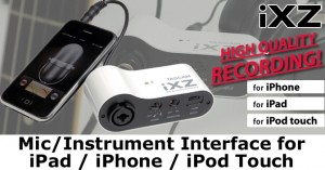 Tascam iXZ iOS interface for recording on your iOS devices